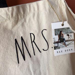 "Rae Dunn MRS tote bag 16""x20"" large NEW"